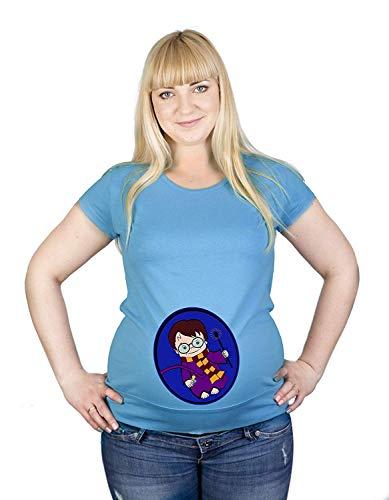Cache A Boo Harry Sorcier Potter Coton Maternité Haut Hypoallergénique (XL, Turquoise)