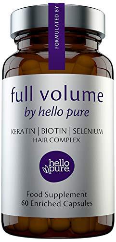 Hair Growth Vitamins For Women & Men – Biotin (Vitamin B7) Supplement Capsules + Keratin Selenium & More – Strengthen Hair & Nails, Healthier Skin & Immune System Support