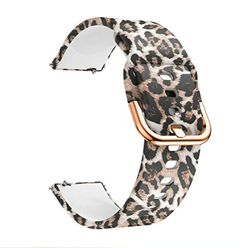 VeveXiao Cinturino compatibile con Garmin Vivoactive 3/Vivoactive 3 Music/Forerunner 645 Music/Vivomove HR Smartwatch – Cinturino di ricambio in silicone stampato a sgancio rapido da 20 mm (Leopard)