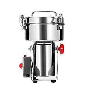 Cueffer Molino de Grano Máquina Eléctrica de Molino Molino de Grano Acero Inoxidable Máquina Oscilante de Moler para Pulverizar Hierba de Grado Alimenticio Maquina de Molino (1000g)