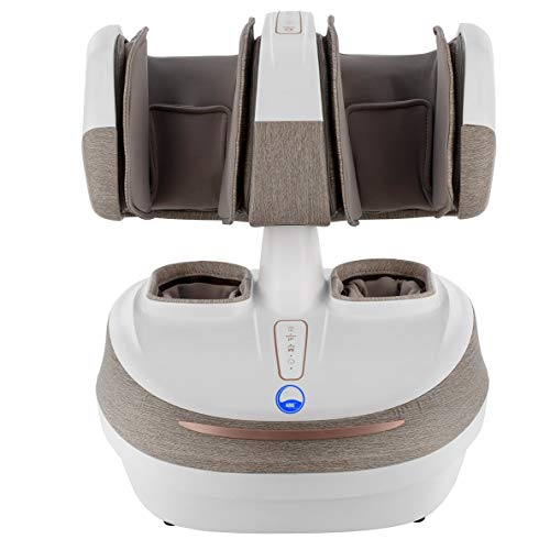ARG HEALTHCARE K18 Leg, foot and Calf Massager 2 in 1 Detachable with Air Compression, Vibration and Heat Therapy Multipurpose Knee Joint Massager for Arthiritis, Calves, and Foot Pain Relief (Beige)