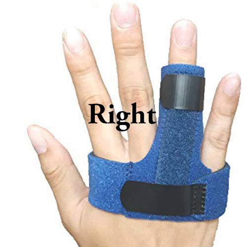 Trigger Finger Splint, Finger Knuckle Support Brace, Adjustable Brace for Straightening Curved, Bent, Locked and Mallet Finger Thumb,Ring,Index(Right)