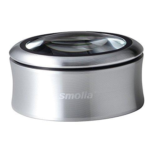 3R スリー・アールシステム 拡大鏡 充電式デスクルーペ [LED拡大鏡smoliaXC] レンズ倍率約3倍 3R-SMOLIA-XCSL シルバー