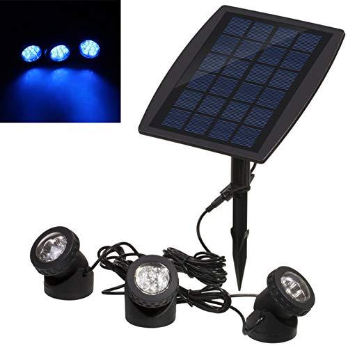 Lixada Solar Teichbeleuchtung, Draussen Tauchstrahler Einstellbare Unterwasserleuchten, IP68 wasserdicht, 18 LEDs Solar Spotlight Licht für...