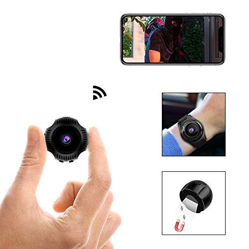 WLAN Mini Kamera HD 1080P IP Mini Kameras Armband Kamera Ultra Kleine Kamera WiFi Remote View Home Security Cam Mini Security Monitoring 160°Angle Nanny Cam Nachtsicht Bewegungserkennung
