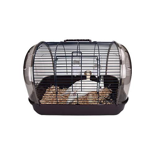 Papagei Vogelhaus Pet Transportbox, bewegliche kleine sortierte Vögel Reisen Cage, Pet Carrier Bag Reisetasche Hund-Katze-Welpen Kaninchen Käfig Vogelkäfig käfig ( Color : Brown , Größe : 41*27*29cm )