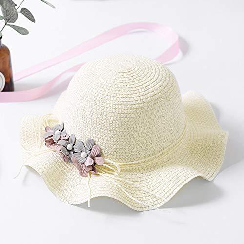 TYMDM Sonnenhut Kinderstrohhut Scherzt Sommerstrandhutmädchen Sprotection Sonnenhut Der Blume Netten Für Mädchen