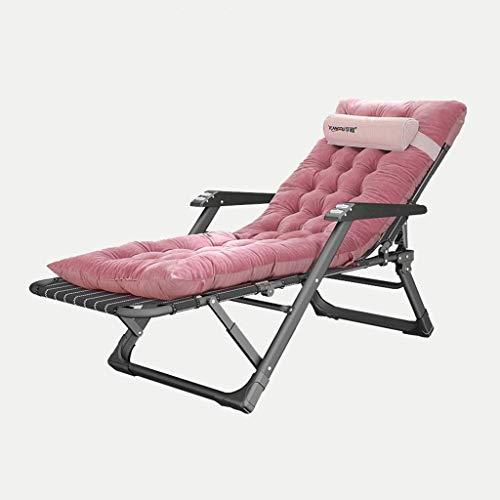WSDSX Silla reclinable Plegable Sillas reclinables Plegables, sillón de Playa de Gravedad Cero con reposabrazos de Masaje para Silla de Ocio Perezosa en Interiores Que acampa al Aire Libre Ga