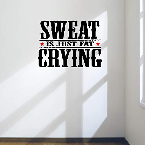 Schweiß ist nur Fat Weinen Gym Motivational Wand Aufkleber Zitat Gesundheit & Fitness Spinning Kettlebell Crossfit Workout Boxen UFC MMA