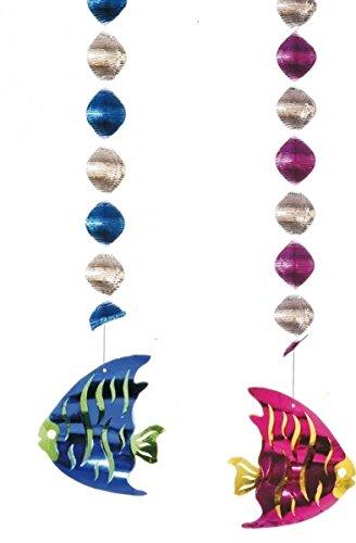 2unidades Rotor espirales peces Decorar Guirnaldas L 80cm, pescado 2unidades Rotor espirales peces Decorar Guirnaldas L 80cm, pescado