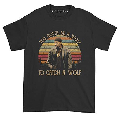 Men's You Gotta Be A Wolf to Catch A Wolf T-Shirt (XL, Black)