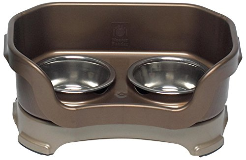 Neater Feeder Deluxe Cat (Bronze) - Mess Proof Elevated Bowls, No...