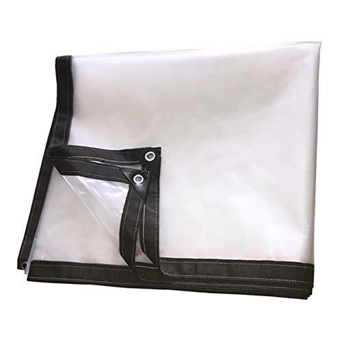 Bâche Claire épaissir imperméable, Film Plastique Transparent Blanc, Tissu antipluie d'isolation de Serre Chaude, 0.12mm (Size : 4MX5M)