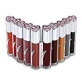 Lápiz Labial líquido Mate de 10 Colores, Impermeable, Brillo de Labios húmedo, lápiz Labial Desnudo, fácil de Usar, Esmalte de Labios, Tinte de Labios Rojo, cosméticos de Belleza