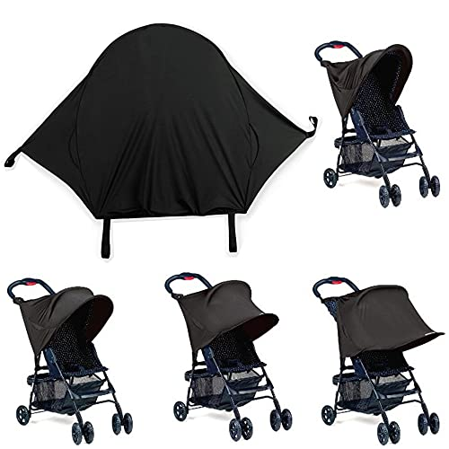 GDOOL Sun Shade for Strollers and Car Seats (Black)