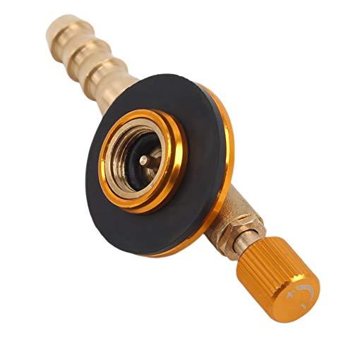YHFJB Adaptador de válvula de cocina de acero inoxidable, para camping, estufa, válvula de carga,