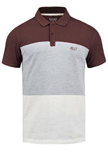 Blend Lauran Herren Poloshirt Polohemd T-Shirt Shirt Mit Polokragen 100% Baumwolle, Größe:XXL, Farbe:Wine Red (73812)
