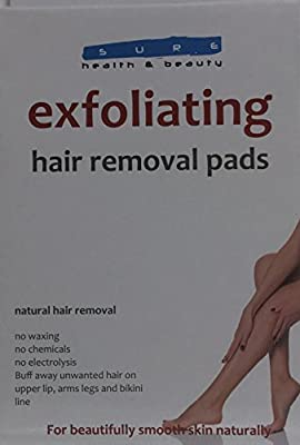 Sure Health & Beauty Exfoliating Hair Removal Pads - Natural Hair Removal