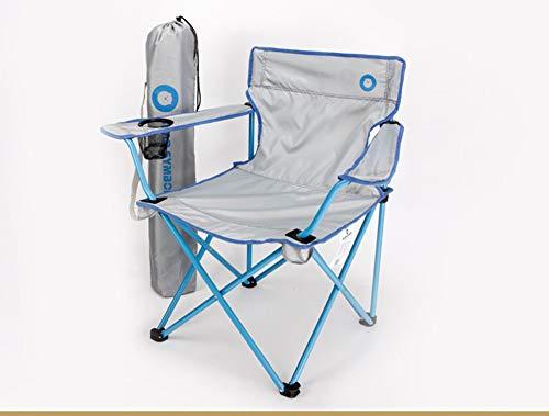 ZJH Chaise Pliante Portable avec Support de Tasse à Repose-Bras et Sac de Transport et de Rangement, pour extérieur, Camp, Pique-Nique, randonnée, Multicolore en Option,A