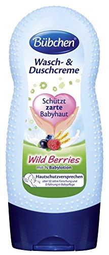 Bübchen Wasch- und Duchcreme Wild Berries, 4er Pack (4 x 230 ml)