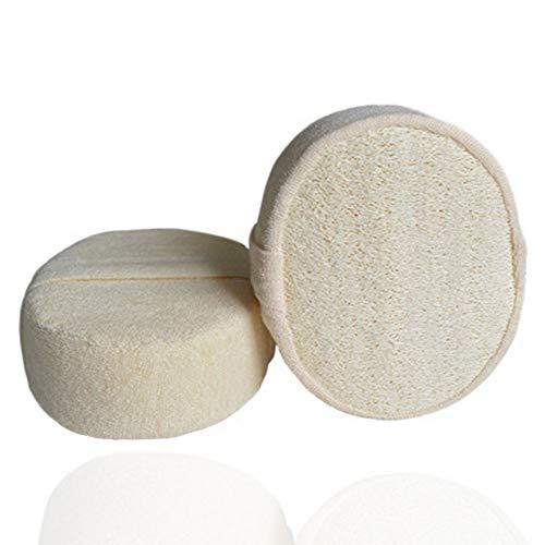xingchen 2 paquetes de exfoliante corporal de ducha con esponja de lufa para hombres/mujeres, herramienta de limpieza profunda de la piel para baño, spa y ducha