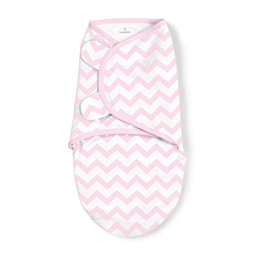 SwaddleMe Swaddling Blanket Comfortable and Secure – Size Small SizeFits Infants 7 – 14 pounds (Chevron Pink) by SwaddleMe