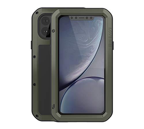 YiMi Metallo Custodia per iPhone 11 PRO,Love Mei Outdoor Heavy Duty Robusto Alluminio Metallo Antipolvere/Impermeabile/Antiurto 360 Gradi Protettiva Custodia Cover per iPhone 11 PRO 5.8'' (Verde)