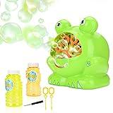 JBSON Seifenblasen Maschine, Automatische Frosch Seifenblasenmaschine, Bubble Maker für eine Kinder...