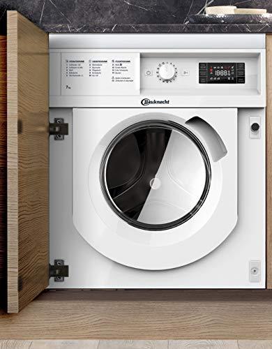 Bauknecht BI WMBG 71484E DE Einbau-Waschmaschine /7 kg/A+++ -10%/ 157 kWh Strom/Jahr/Antiflecken 100/EcoTech Mengenautomatik/Wolleprogramm/Wasserschutz/Dynamic Inverter-Motor