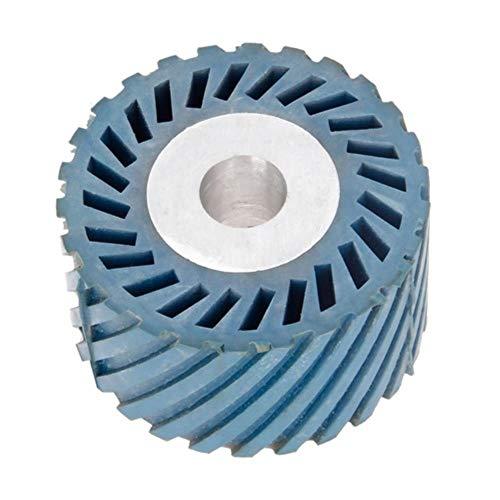 86 * 50 mm massives gerilltes Gummi-Kontaktrad für Bandschleifer Schleifer Polierfase Schleifscheibe Schleifband, 86 x 50 x 20 mm gerillt