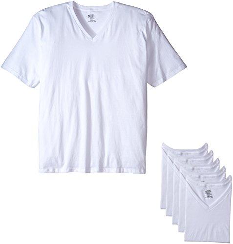 Jockey Men's T-Shirts Big & Tall Classic V-Neck T-Shirt - 6 Pack, White, LT