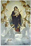 Luck7 Leinwand Druck Poster Notre Dame Mary Holy für