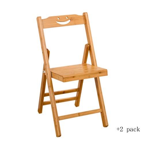 SSG Home Haute qualité Chaise Pliante Accueil Camping en Plein air Chaise Portable en Bambou extérieur antidérapante Loisirs Pêche Tabouret à Manger Siège Facile à Porter (Color : B, Size : XL)