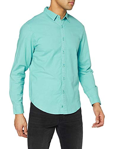 Dockers Garment Dyed Oxford Shirt, Camisa Hombre, Meadowbrook, M