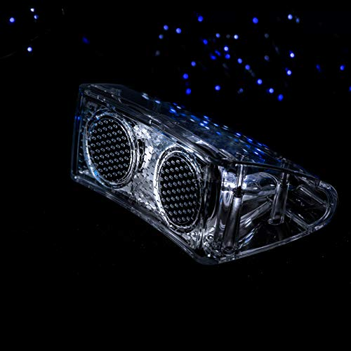 Portable Bluetooth Speaker Transparent, Handsfree Wireless Elegant Soundbox Bluetooth5.0 Ambient Lightings for Home Christmas Party Outdoor Travel (Clear)