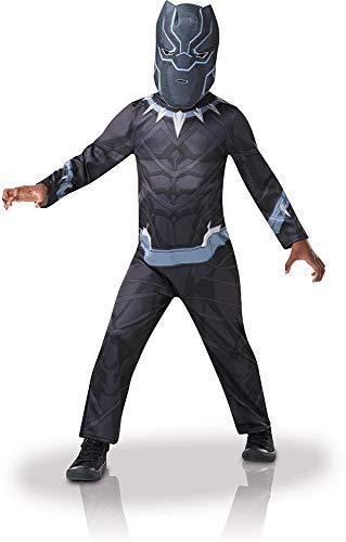 Rubies-Disfraz de «Black Panther», tallaM, para niño, I-640907M