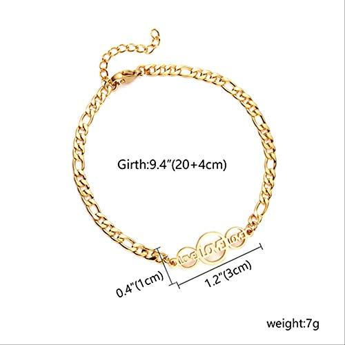 DFGH, bracciale classico in acciaio inox, con simbolo dell'amore e della neve, braccialetto alla moda da donna, gioielli alla moda per feste, vari stili