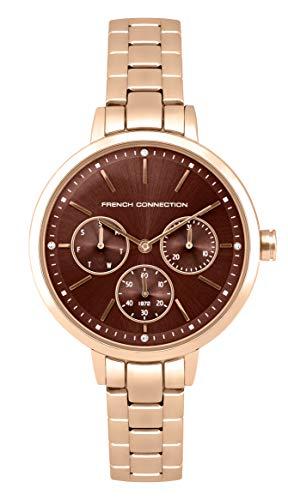 French Connection Quarz Uhr mit Edelstahl Armband FC134RGM