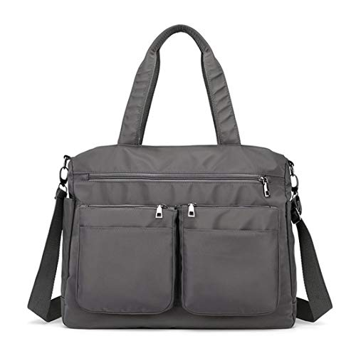 AIRUI Umhängetasche für Damen, Handtasche Aktentasche Schultertasche wasserdichte, 15,6 Zoll Business Arbeitstasche Laptoptasche für Notebook - Grau