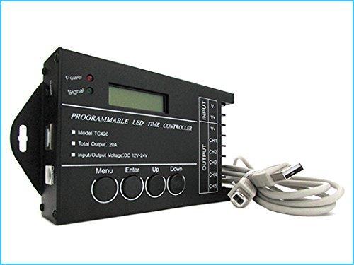 LEDLUX Centralina Led Timer Alba Tramonto Programmabile Time Led Controller Per Acquari Canarini Serre TC420 Manuale In Italiano 50 Programmi Precaricati