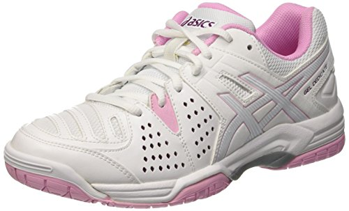 Asics Gel-Dedicate 4 E557y-0117, Zapatillas de Tenis para Mujer, Multicolor (White/Cotton Candy/Plum), 37.5 EU
