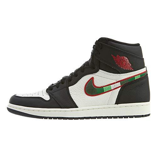 Jordan Air 1 Retro High OG, Zapatillas de Deporte Hombre, Multicolor (Black/Varsity Red/Sail/University Blue 015), 46 EU