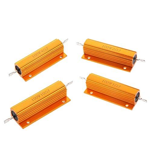 MagiDeal 100W 1R +2R +4R +10R Aluminum Gehäuse Shell Fall Wirewound Resistor Widerstand
