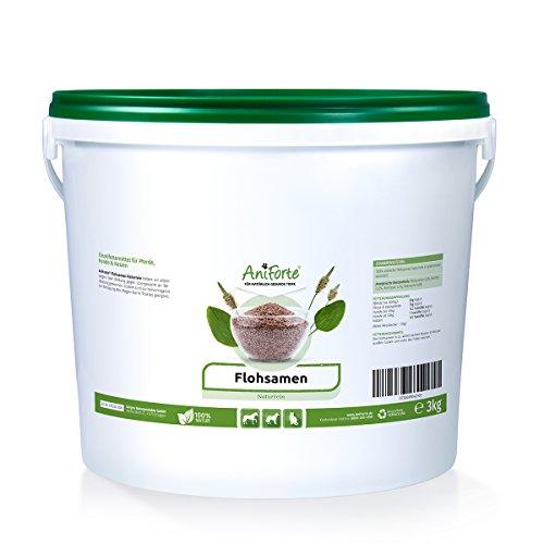AniForte Floeizaad, 3 kg, voor paarden, honden en katten, rijk aan ballaststoffen en slijmstoffen, Indiase grondstoffen, voordeelverpakking
