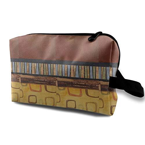 Bolsa de cosméticos de viaje, bolsa de maquillaje impermeable MCM Marigold organizador con cremallera de 4.8 pulgadas x 6.2 pulgadas x 10 pulgadas
