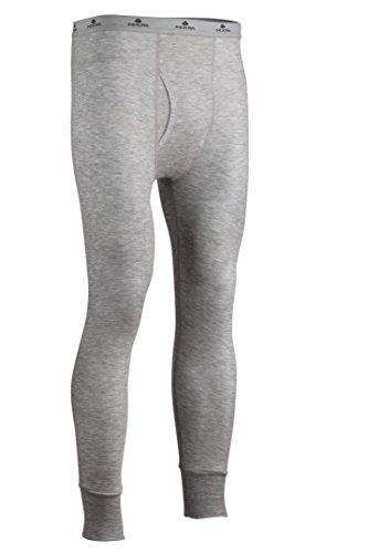 Indera Men's Two-Layer Performance Thermal Underwear Pant with Silvadur, HeatherGrey, Medium