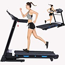 ANCHEER Folding Treadmill, Fitness Electric Treadmill with Incline, Bluetooth Speaker and LCD Display, Motorized Running Walking Machine for Home Office Use, Easy Assembly,300 LBS Max Weight,3.25Hp