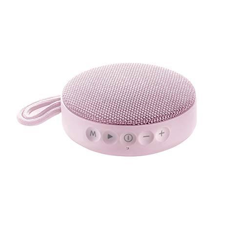 Vieta Pro Round Up - Altavoz inalámbrico (Bluetooth, radio FM, reproductor USB, entrada micro SD, auxiliar, micrófono integrado) rosa