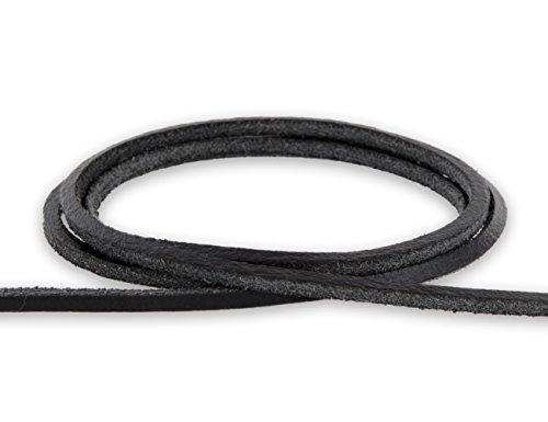 Auroris - Lederband 3x3 mm aus Rindsleder Länge: 5m, Farbe: schwarz