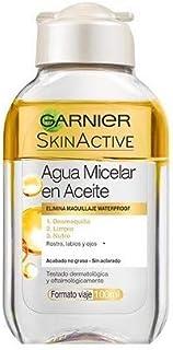 Garnier Skin Active - Agua Micelar en Aceite Elimina el Maquillaje Waterpoof Formato Viaje - 100 ml